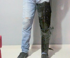 How to Build Leg Armor Using recycled cans or sheet metal