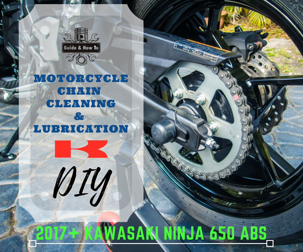 motorcycle chain cleaning lubrication ninja 650 z650 10 steps rh instructables com
