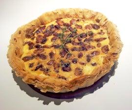 Balsamic Garlic and Goat's Cheese Tart
