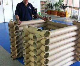 Carpet Tube Lincoln Log style log fort or house