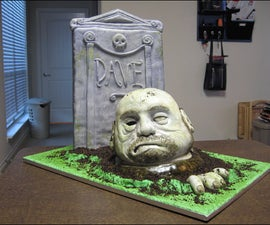 How to make a sculpted zombie cake.