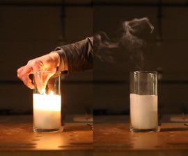 LED Candle - Lights, Flickers, Blows Out, Smokes, and Smells