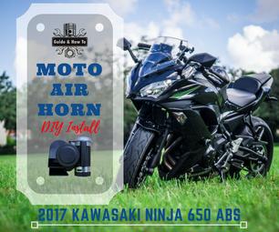 DIY - Motorcycle Air Horn Install Upgrade - 2017 Kawasaki Ninja 650 / Z650