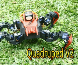 ESP8266 WIFI AP Controlled Quadruped Robot