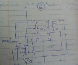 simple alternate LED flashing using 555 timer