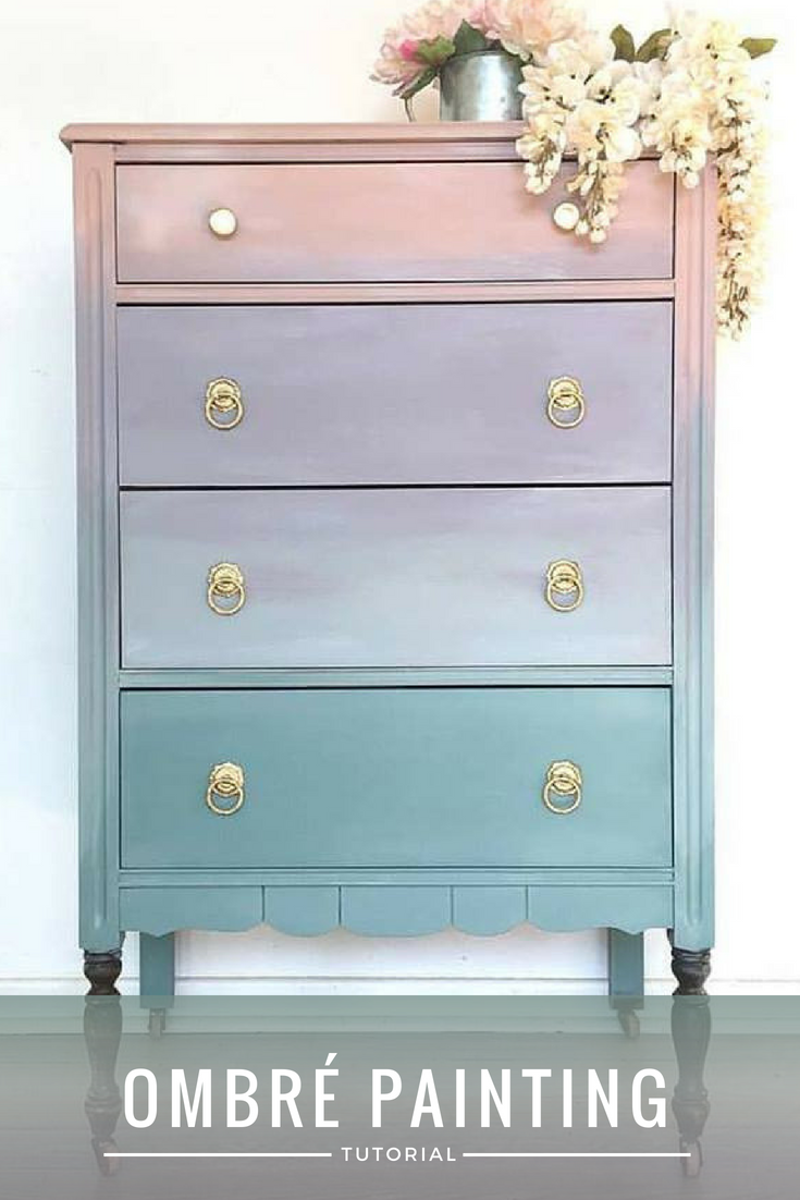 Picture of How to Paint Ombré Furniture