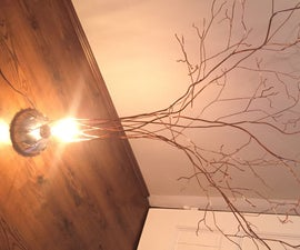 Copper Tree Lamp