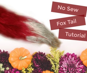 Easy No Sew Fox Tail