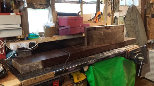 Making the Bench Planks by Ripping Down a Huge Mantlepiece