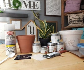 How to Make a Monogrammed Flower Pot
