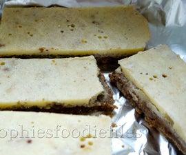 Vegan Home-made White Chocolate Coconut Bars