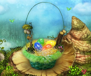 My Singing Monsters Floofy Nest Easter Basket