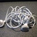 Tangle free earphone cord wrapper.