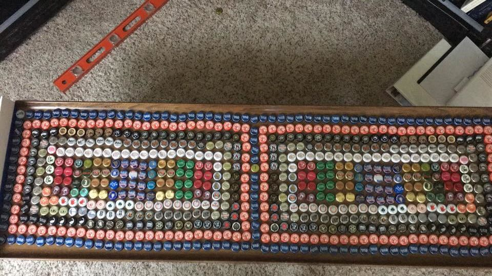 Picture of The Amazing Beer Bottle Cap Coffee Table