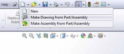 Make a Drawing From the Part
