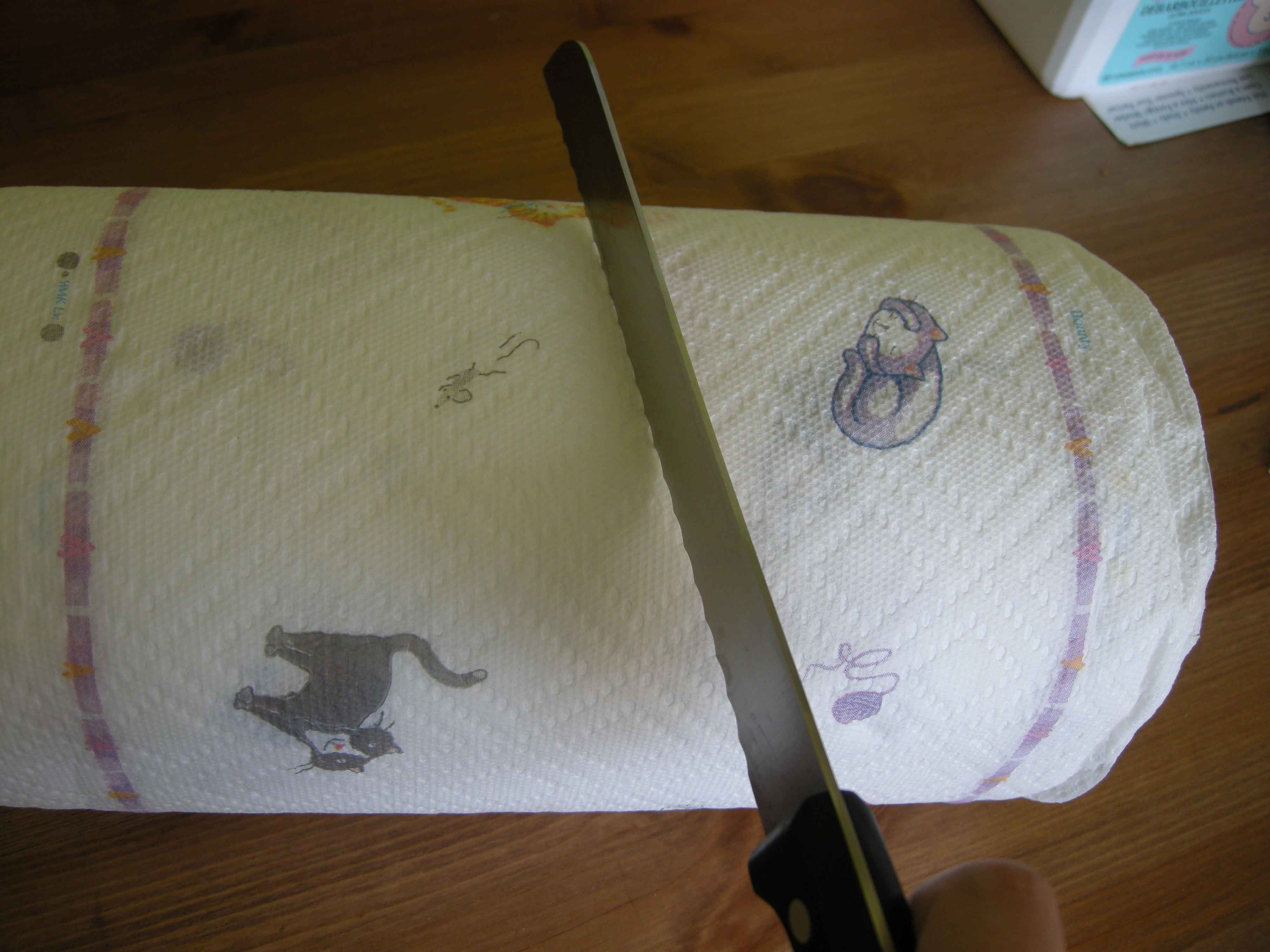Picture of Cut Your Roll of Paper Towel in Half.