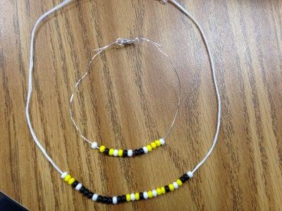 Morse Code Jewelry Set