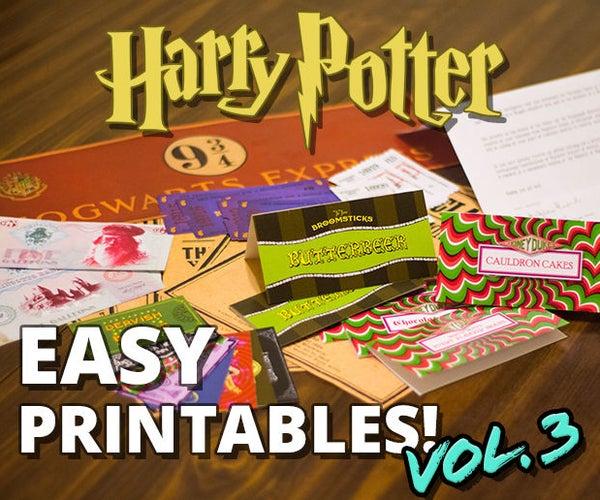 Harry Potter Printables Vol. 3