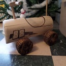 Wood car from log