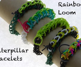 Rainbow Loom Caterpillar Bracelets