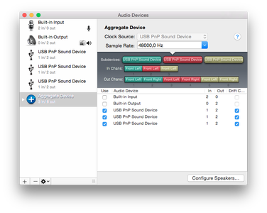 Combining the Sound Cards in OSX