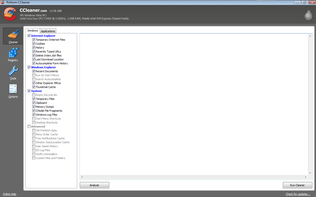 Picture of CCleaner