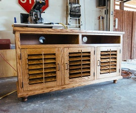 Media Cabinet with Shutters
