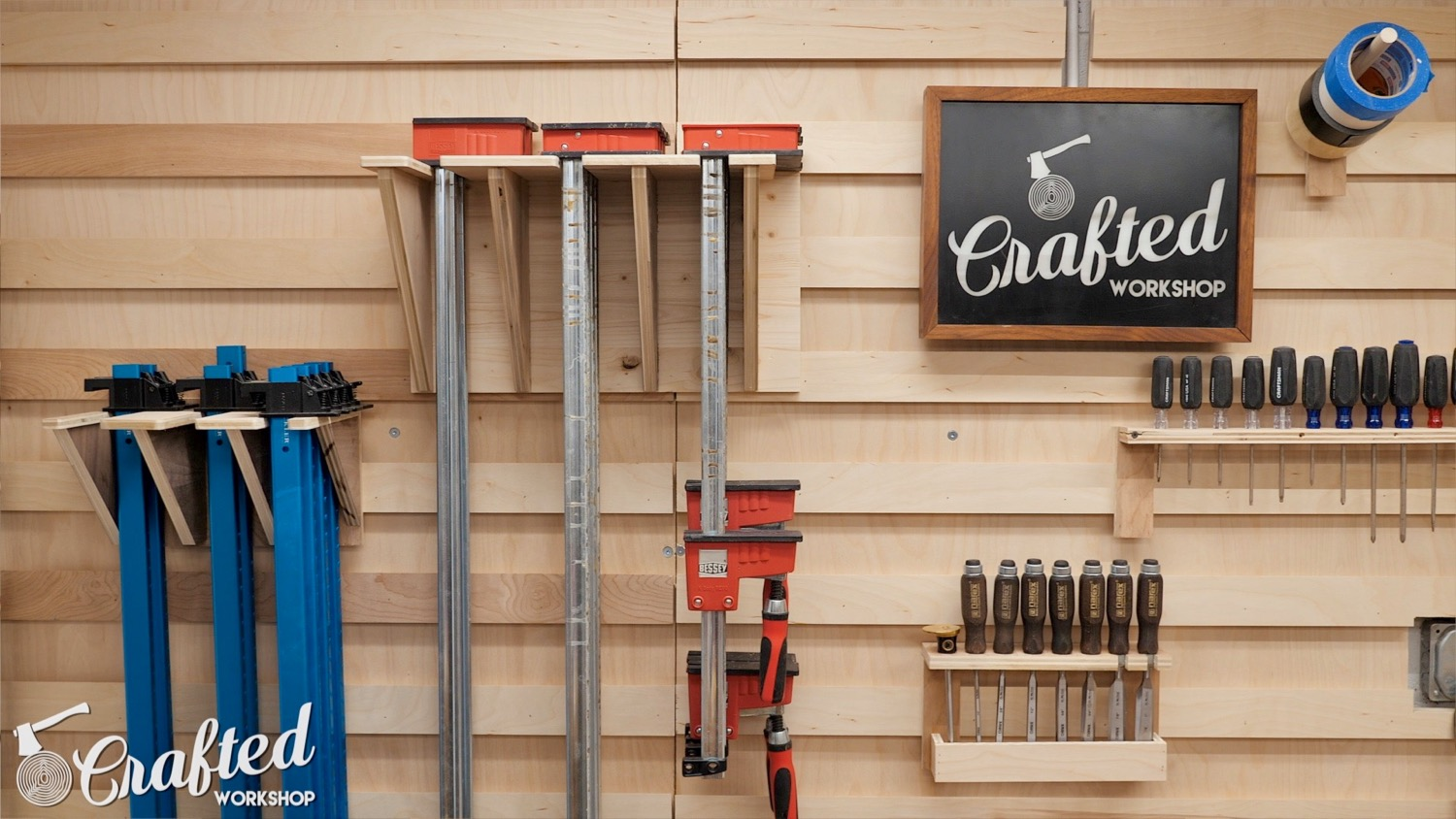 Picture of The French Cleat Clamp Rack: Attach French Cleat & Load It With Clamps