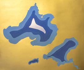 Lasercut Bathymetric map