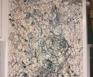 New Kitchen Cabinets With a Jackson Pollock Inspired Design