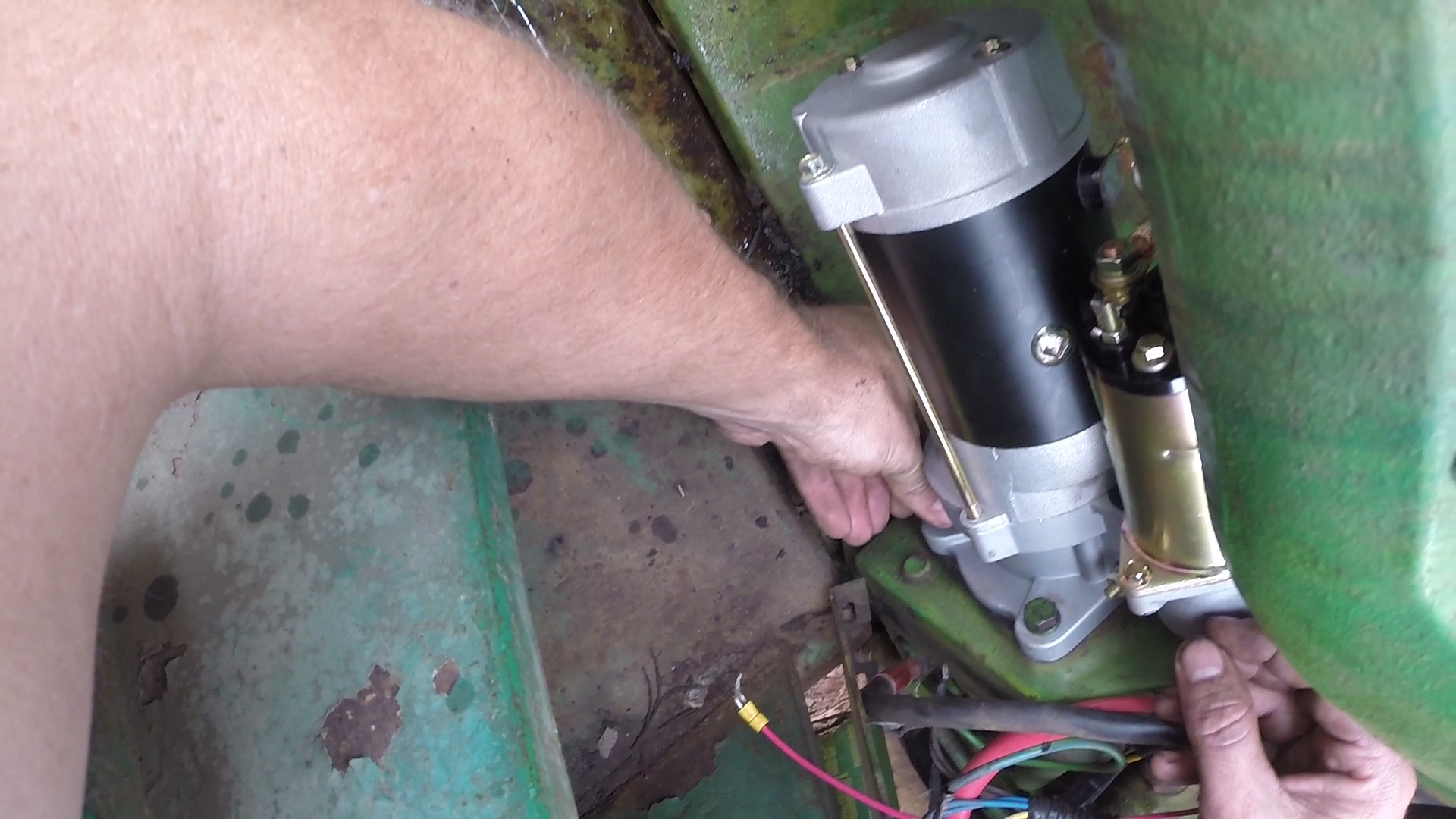 Picture of Remove the Old Starter and Solenoid and Install the New One.
