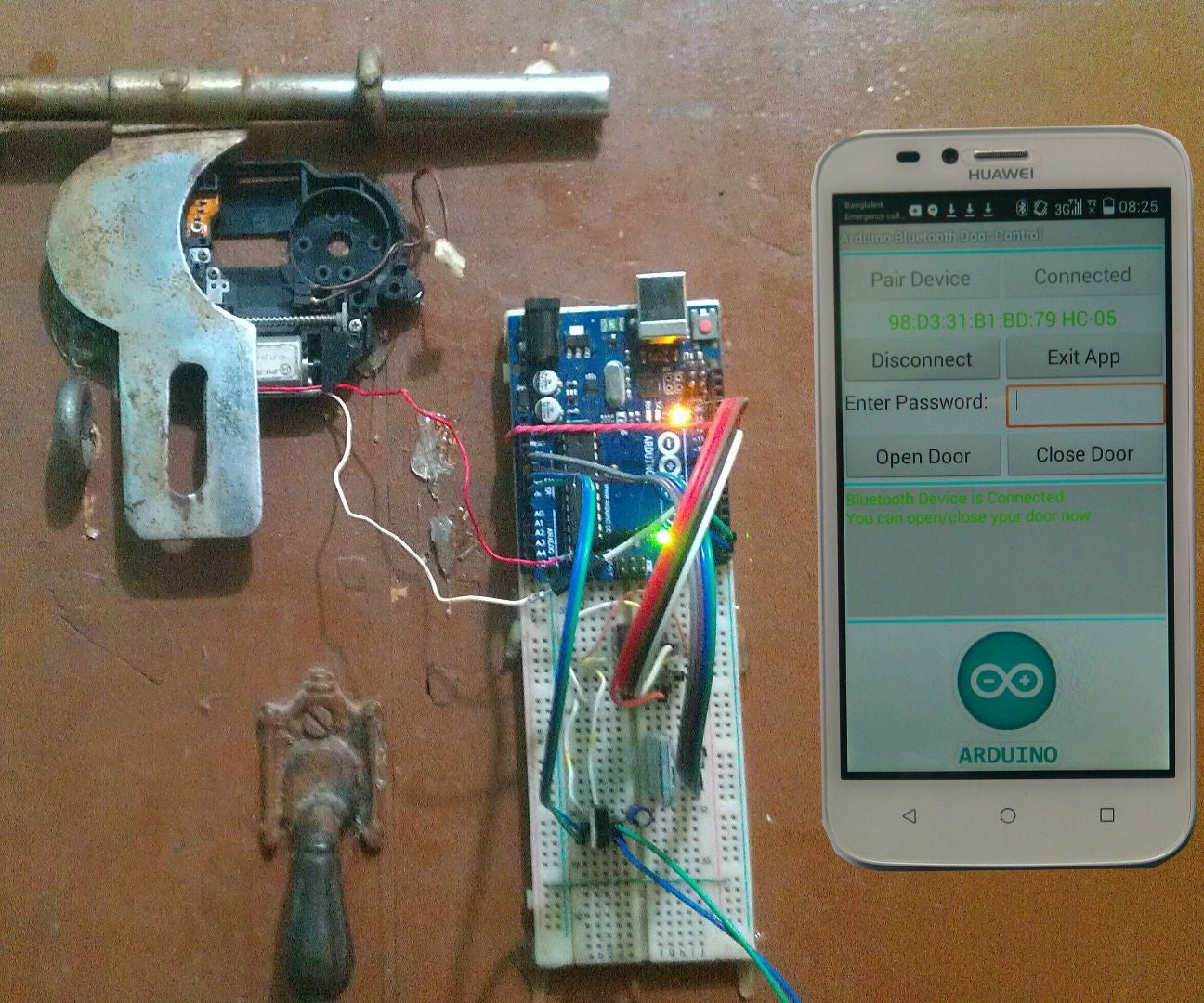 Arduino Amp Android Based Bluetooth Controll Password