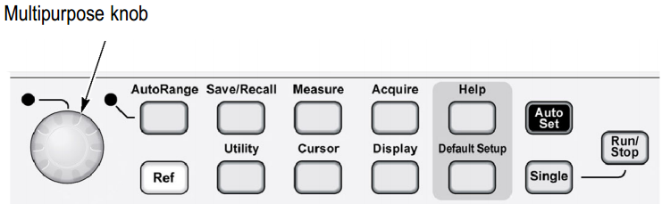 General and Menu Control Buttons