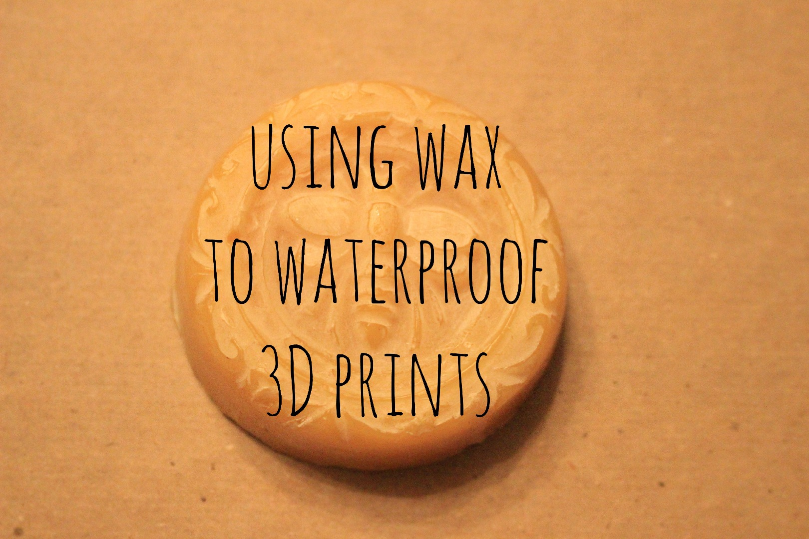 Picture of Using Wax to Waterproof 3D Prints