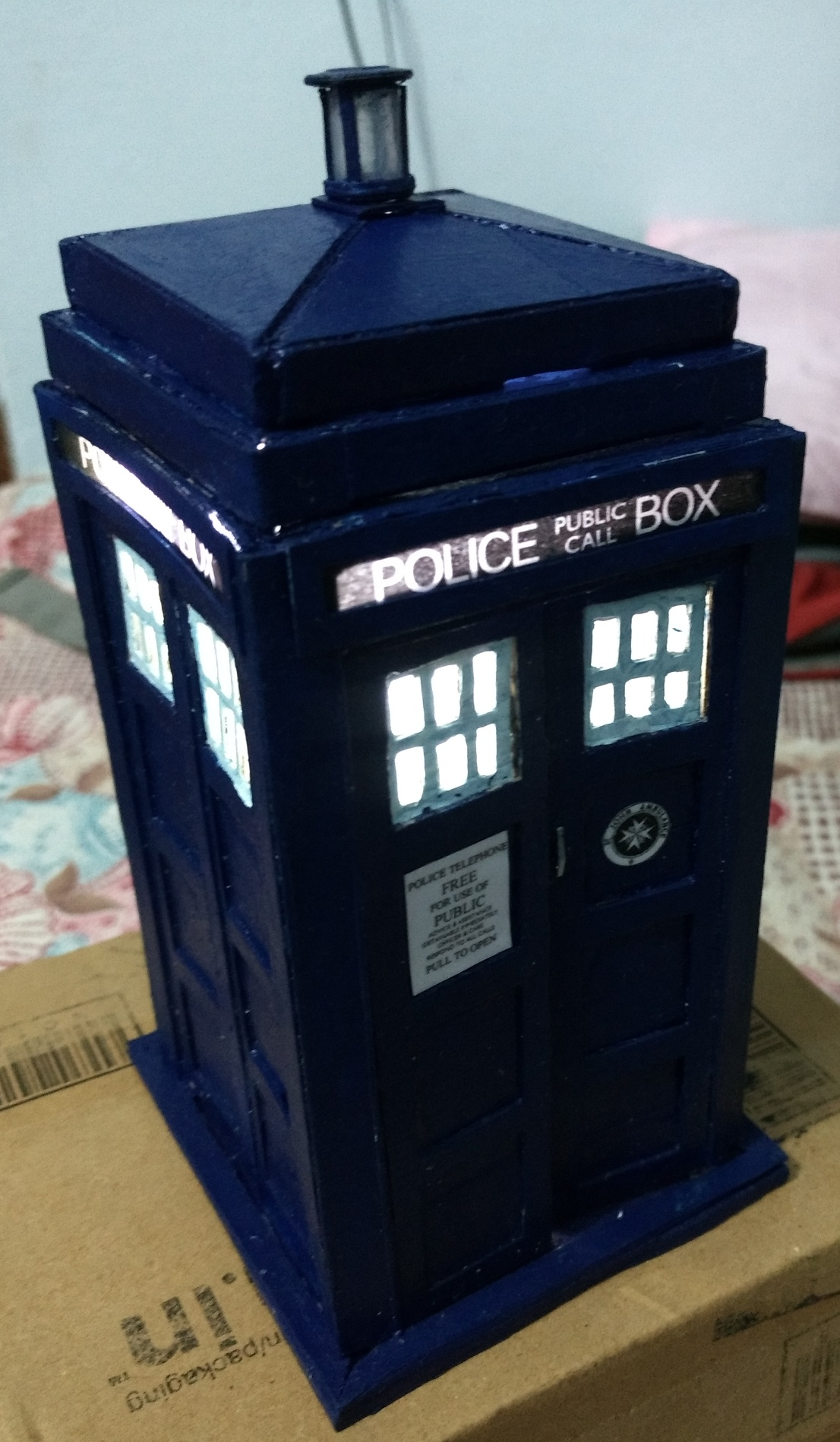 Picture of Make a Mini TARDIS With Light and Sound Effects!