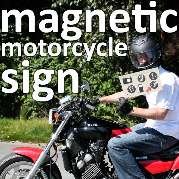 Magnetic Motorcycle Sign