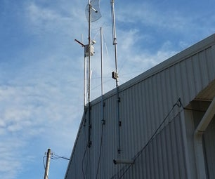 Low Budget Method to Mount Antenna Masts to a Building