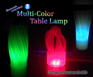 Multi-Color Glue Stick Table Lamp