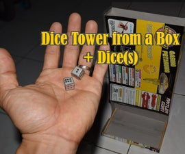 Dice Tower From a Box Plus Dice(s)
