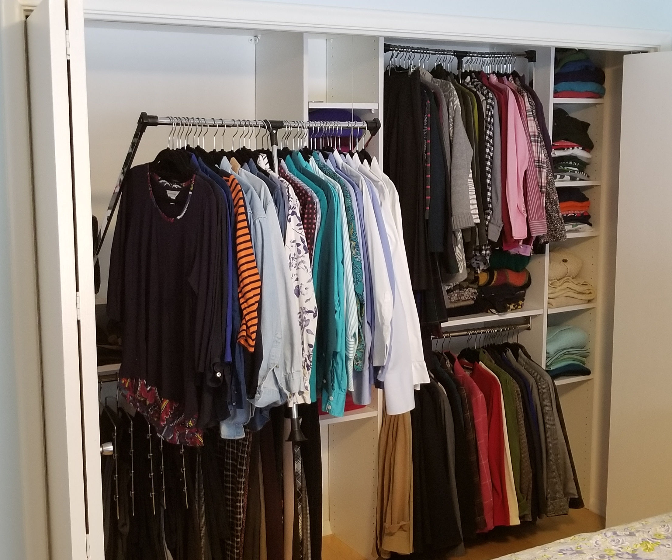 Closet System With Dual Pull Down Rods For 400 6 Steps