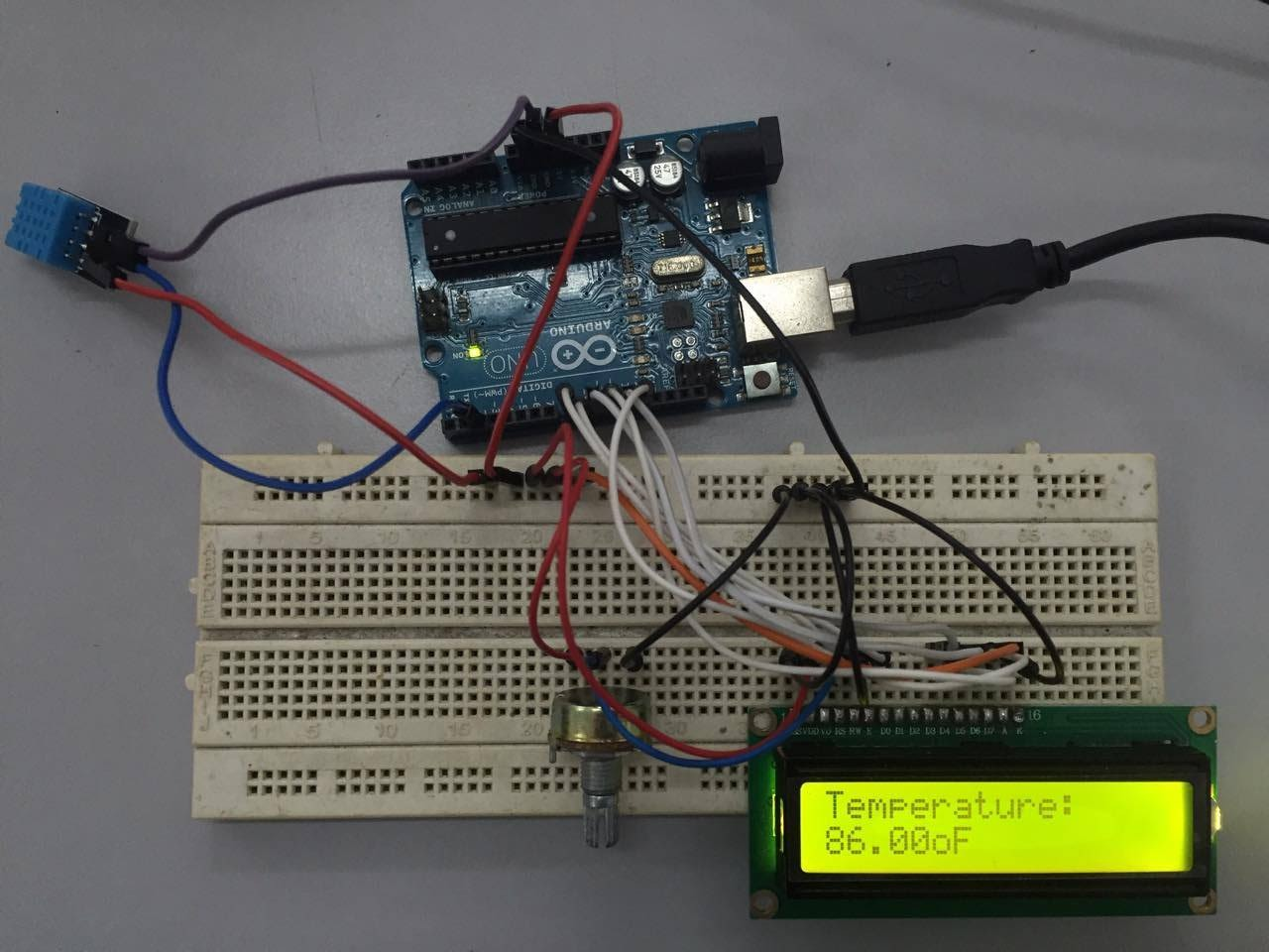 Picture of Measurements Shown on LCD Screen
