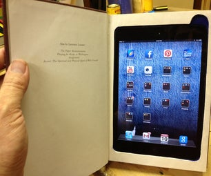 Make an IPad Mini Book With Storage Compartment