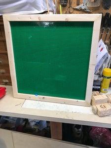 Step 3: Glue Plates to Framed Tray