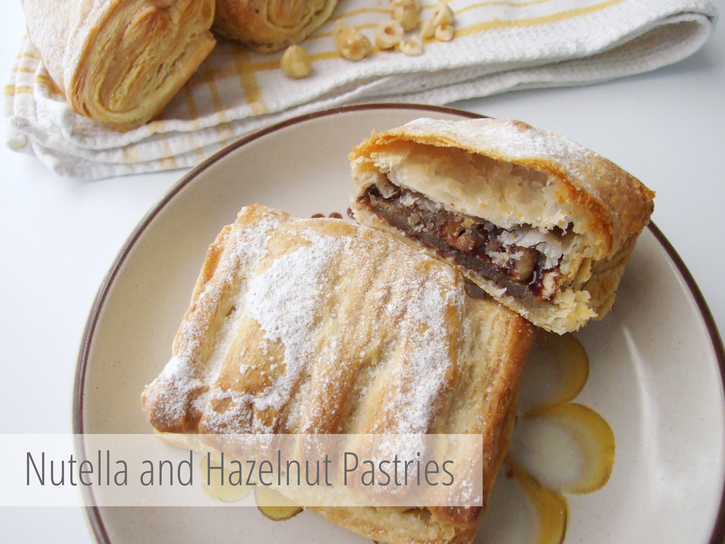 Picture of Nutella and Hazelnut Pastries.
