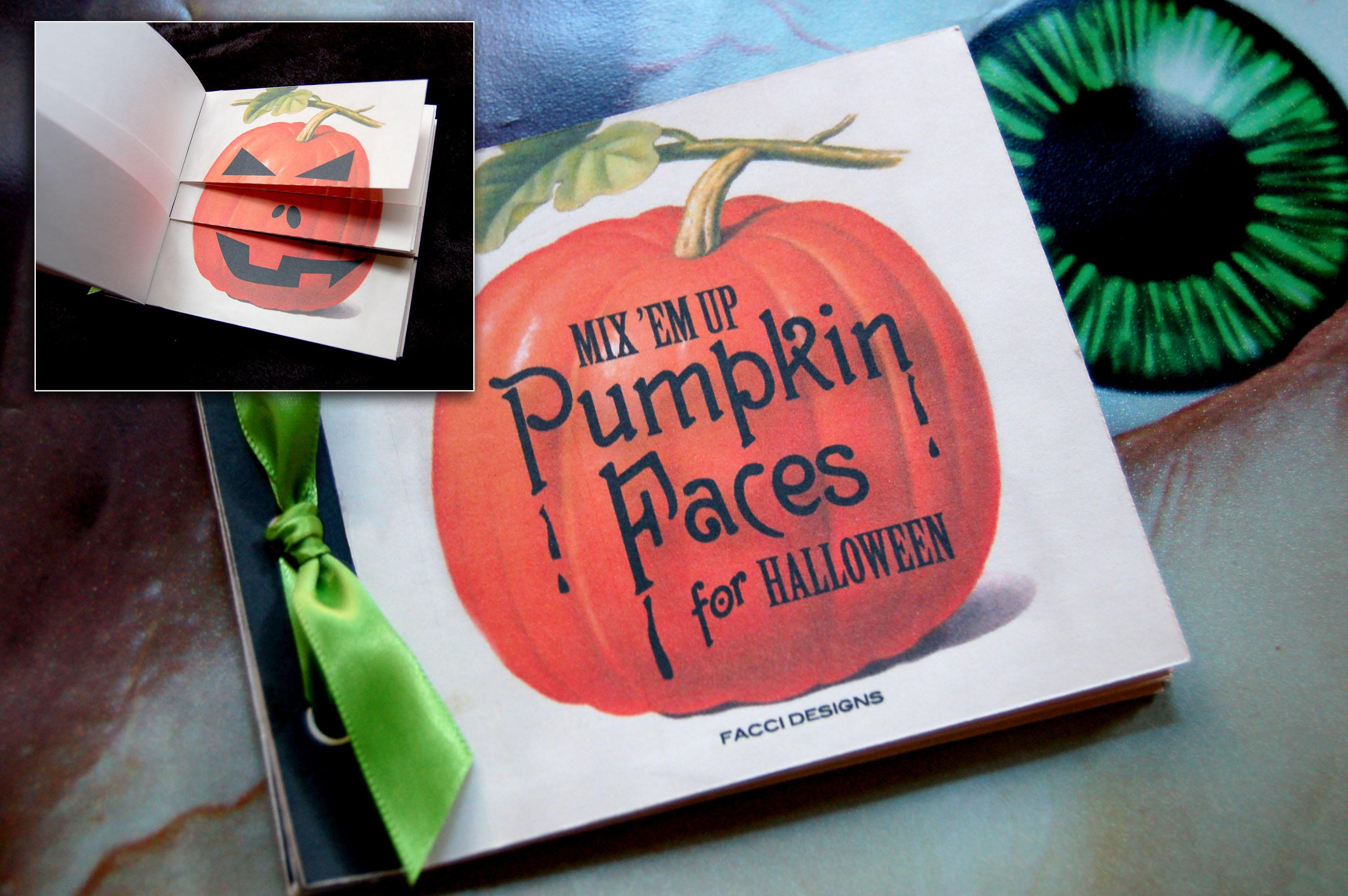 Picture of Halloween Pumpkin Face Book Template