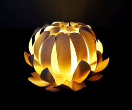 Paper cup flower lamp