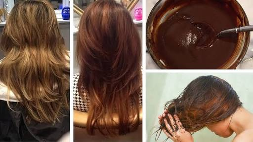 Picture of DIY Natural Hair Dye Color for Instant Dark Brown Hair !!