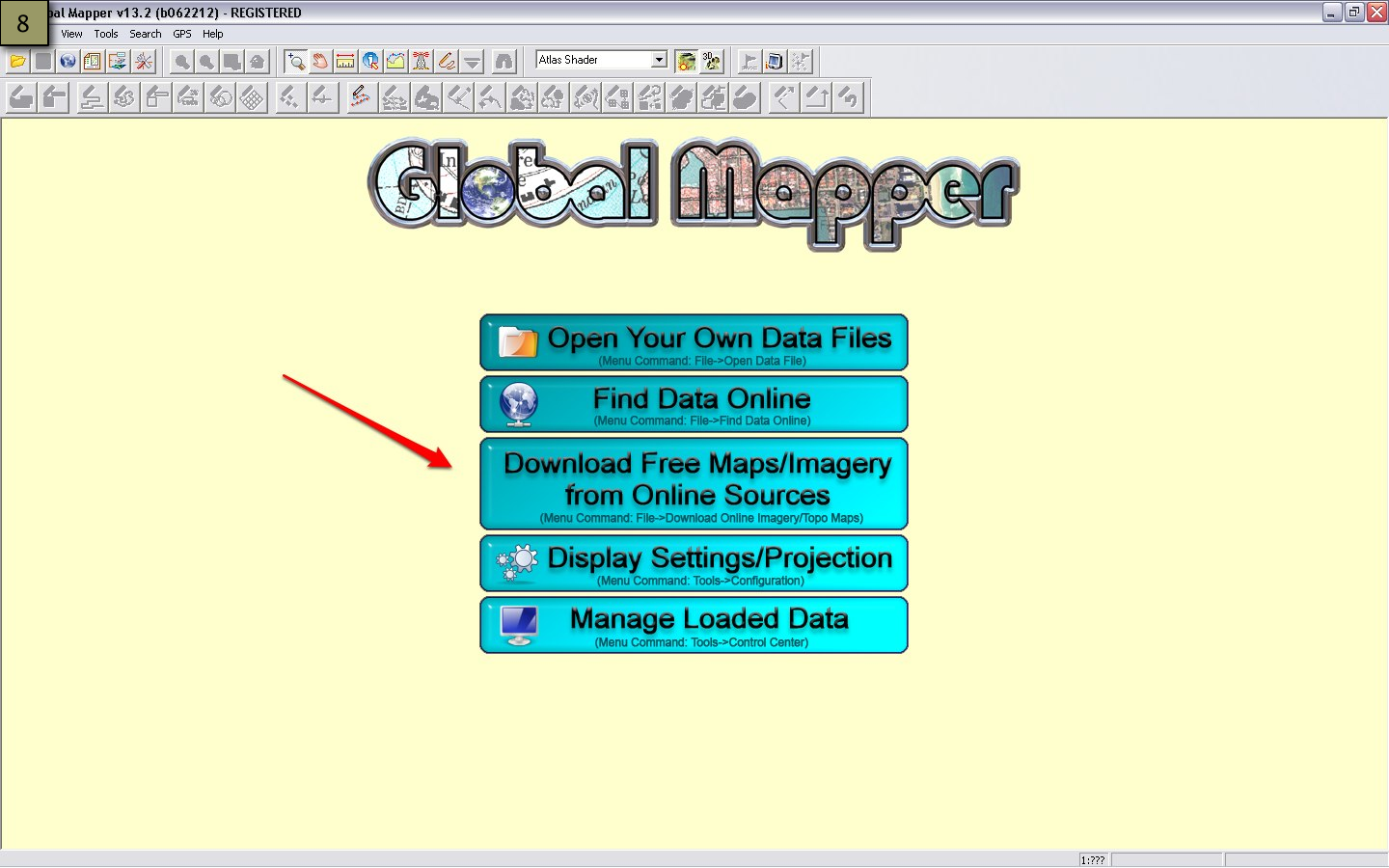 Picture of Insert Coordinates and Measurement - Global Mapper