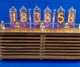 Wooden Venetian Blind Nixie Clock Aka Sara's Little Sister.