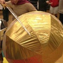 Life-size Spartan Shield Made From a Papasan!